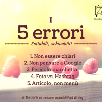 5 Errori Food Writing