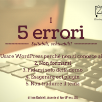 5 Errori Wordpress