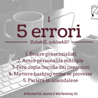 5 errori Web marketing