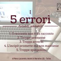5 errori scrittura creativa secondo Lazzarotto