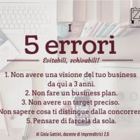 5 errori quando ci si mette in proprio
